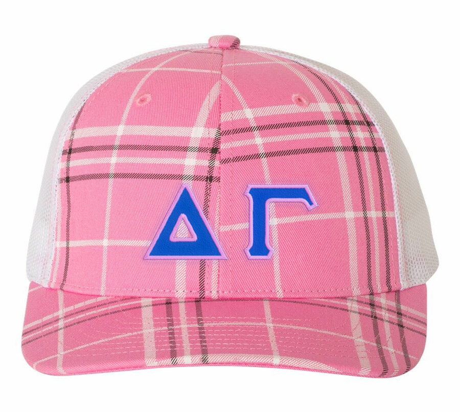 Delta Gamma Plaid Snapback Trucker Hat