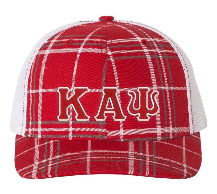 Kappa Alpha Psi Plaid Snapback Trucker Hat
