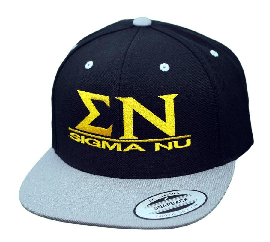 Sigma Nu Flatbill Snapback Hats Original