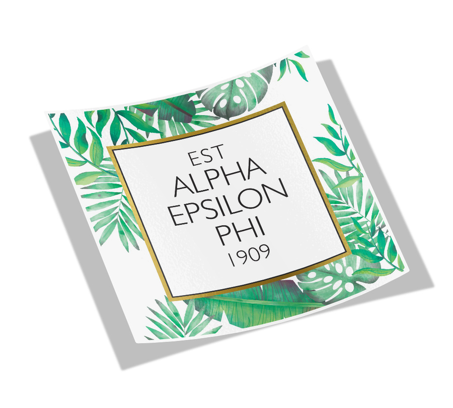 Alpha Epsilon Phi Tropical Sticker Decal