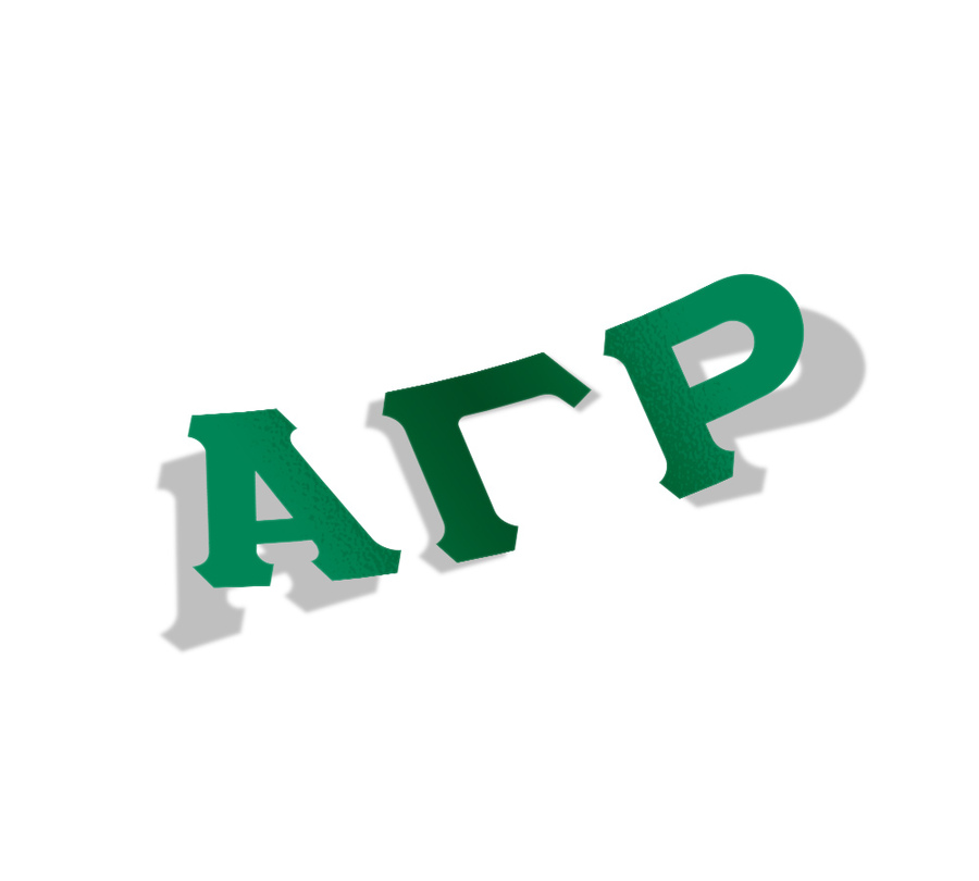 Alpha Gamma Rho Big Greek Letter Window Sticker Decal