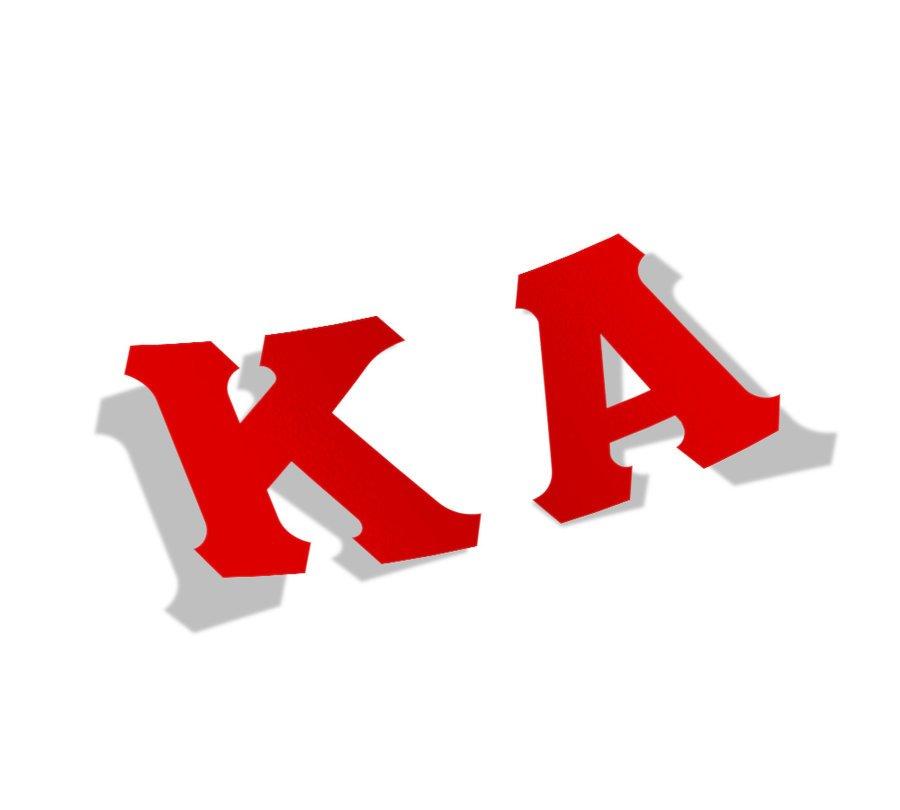 Kappa Alpha Big Greek Letter Window Sticker Decal