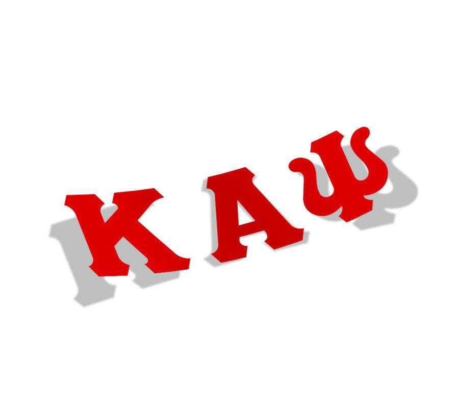 Kappa Alpha Psi Big Greek Letter Window Sticker Decal