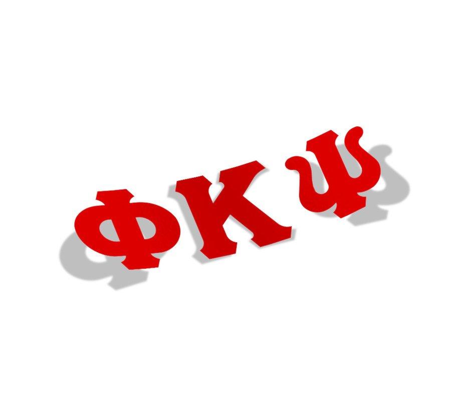 Phi Kappa Psi Big Greek Letter Window Sticker Decal
