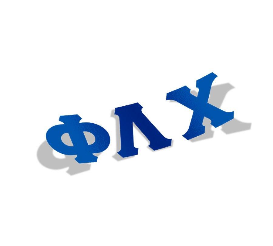 Phi Lambda Chi Big Greek Letter Window Sticker Decal