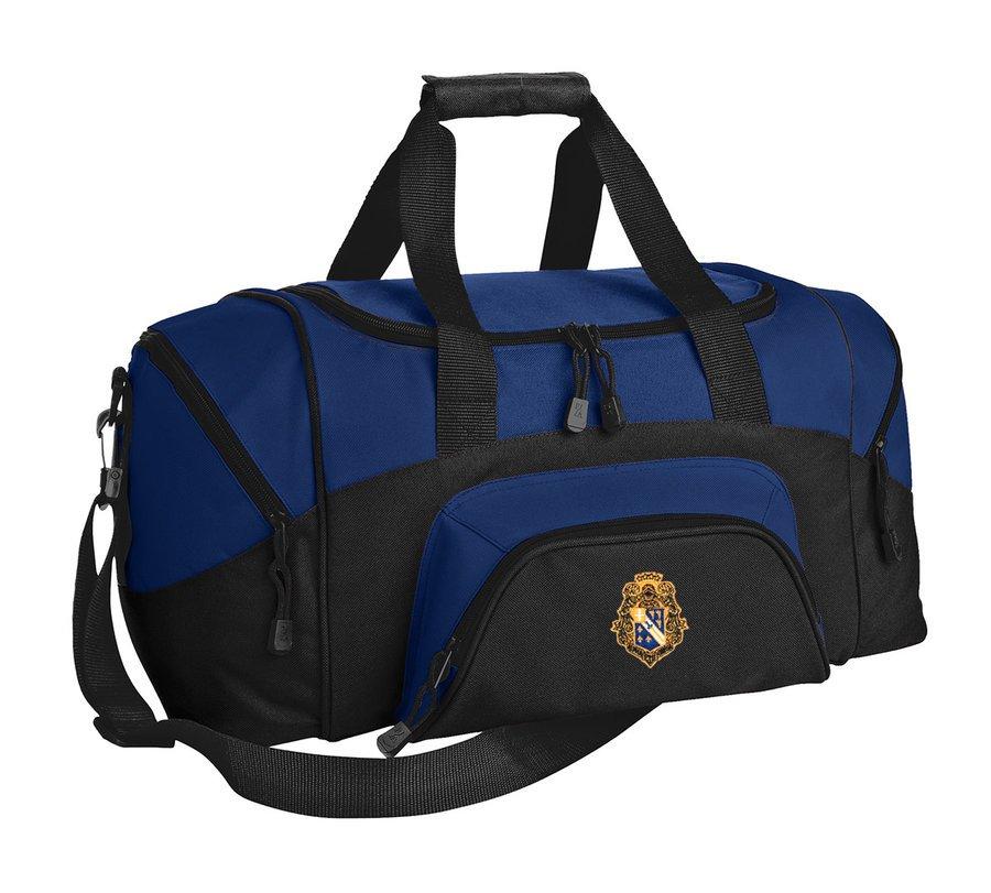 Alpha Phi Omega Colorblock Duffel Bag