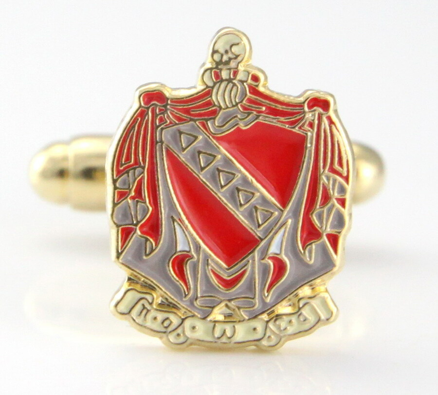 Fraternity Color Crest Cuff links