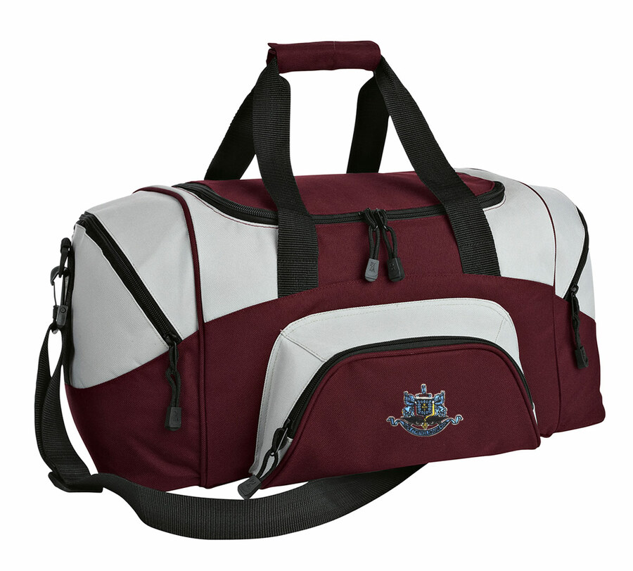 DISCOUNT-Psi Upsilon Colorblock Duffel Bag