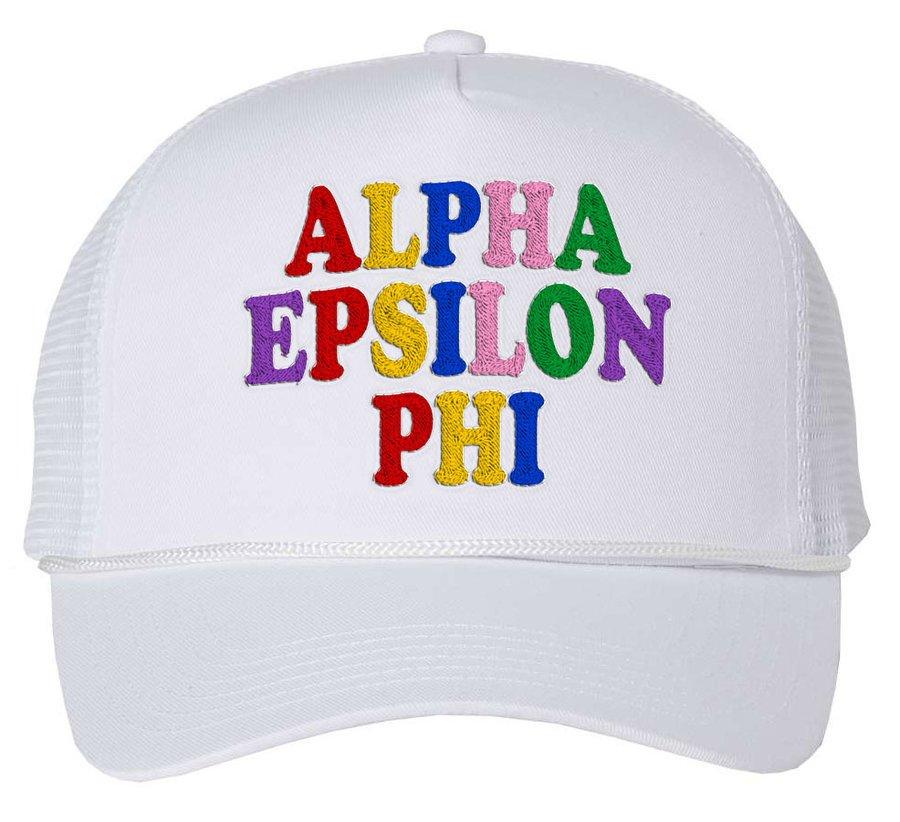 Alpha Epsilon Phi Rainbow Trucker Hat