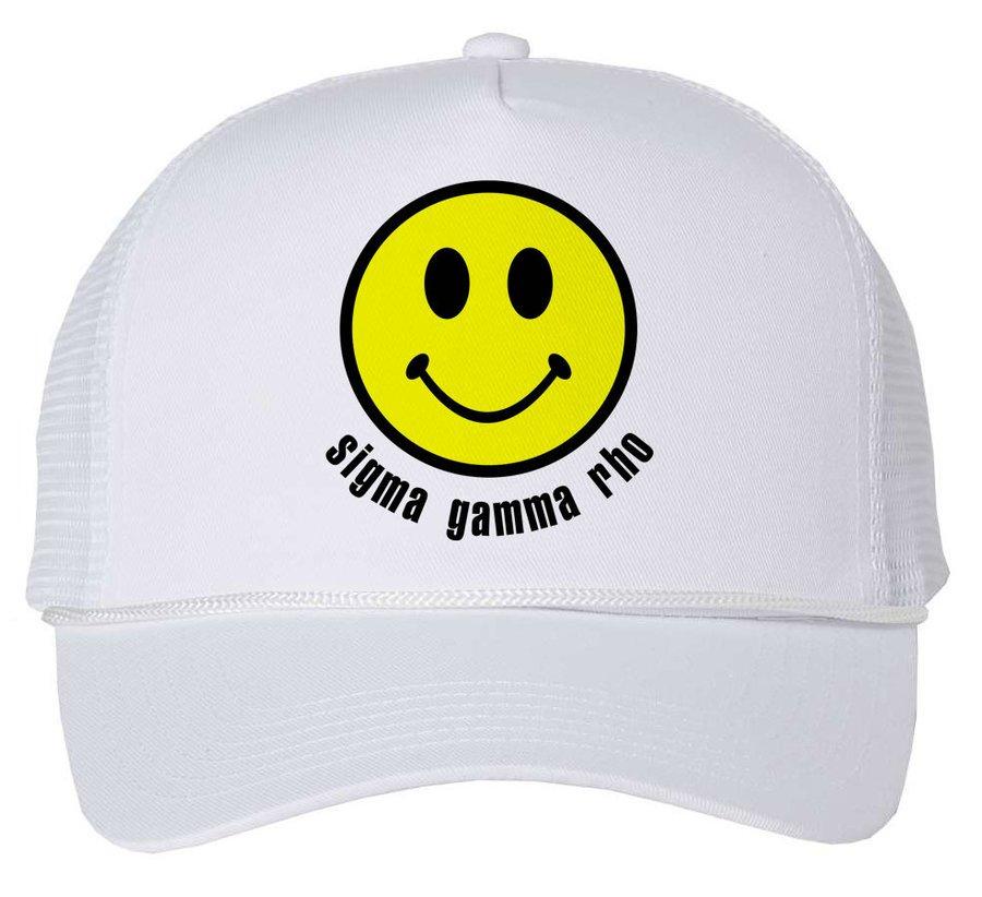 Sigma Gamma Rho Smiley Face Trucker Hat