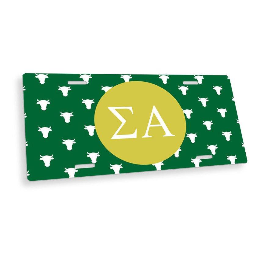 Sigma Alpha Mascot License Plate