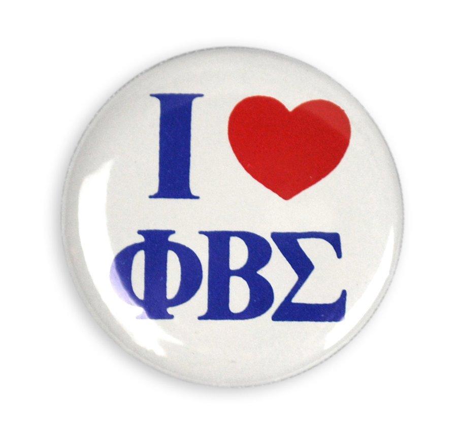 "I Love Phi Beta Sigma 1/1/4"" Button"