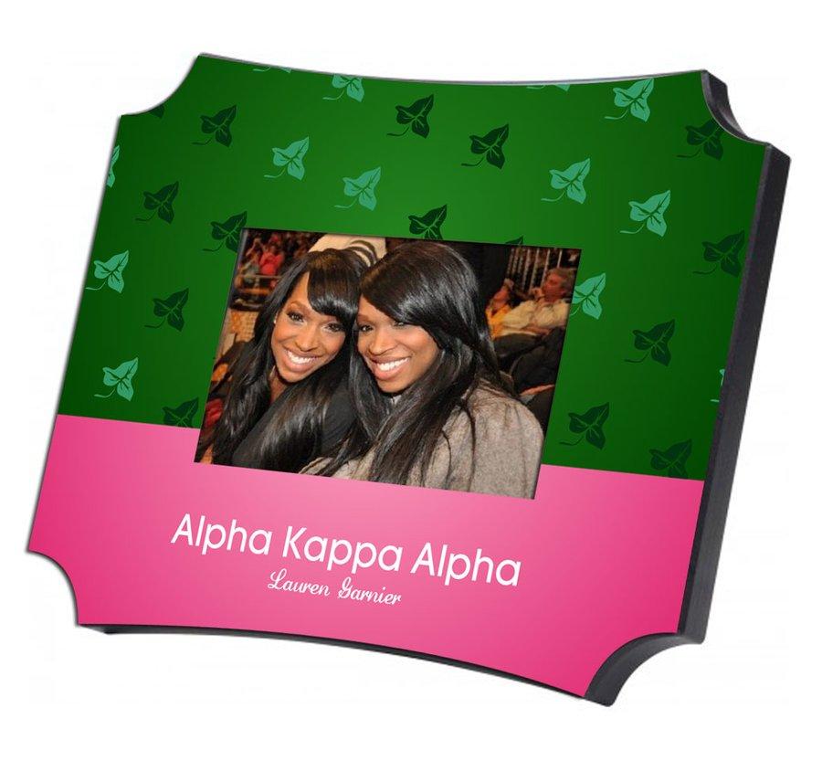 Alpha Kappa Alpha Two Tone Mascot Picture Frame