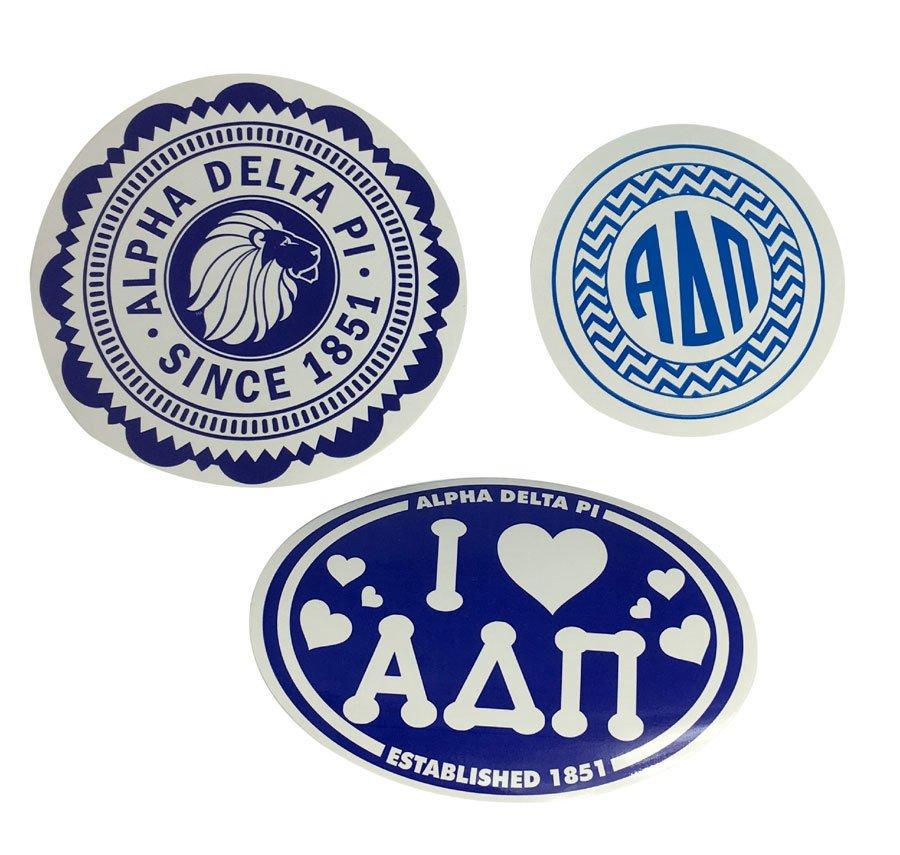 Alpha Delta Pi Sorority Sticker Collection $5.95