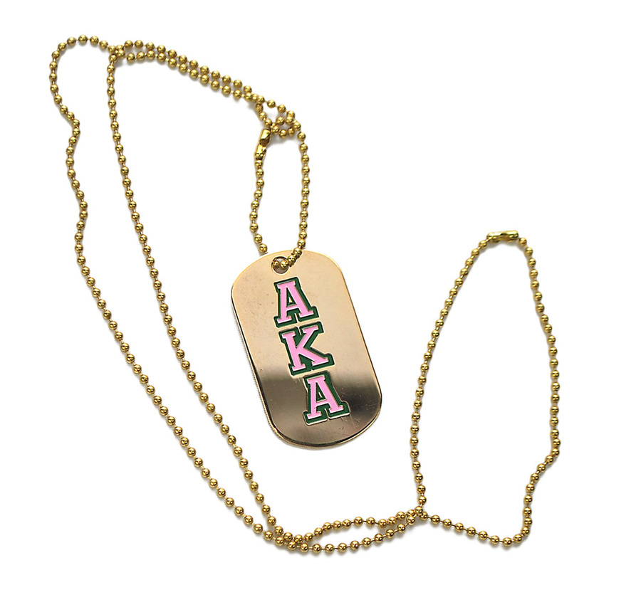AKA Metallic Dog Tag-closeout