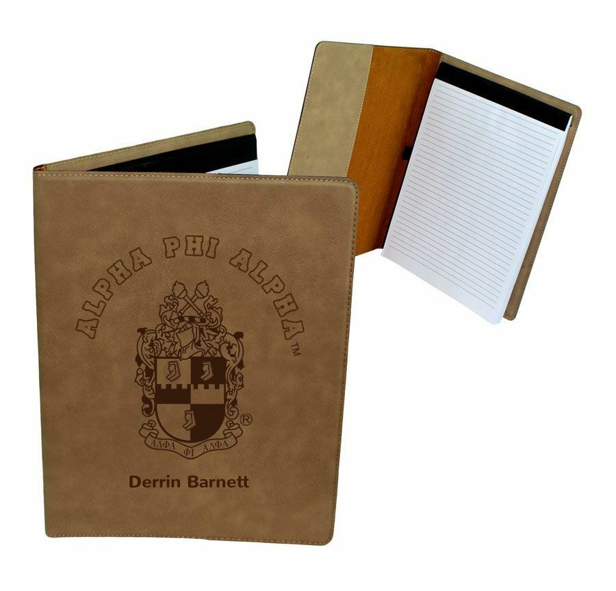 Alpha Phi Alpha Leatherette Portfolio with Notepad