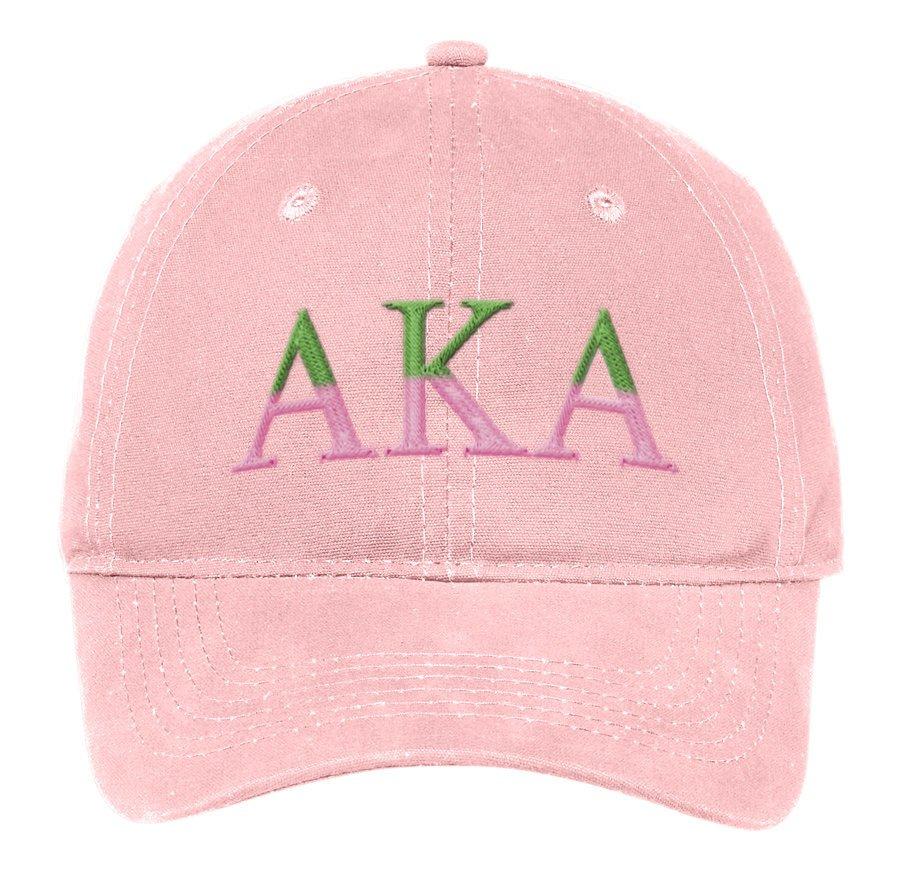 Alpha Kappa Alpha Two Tone Letter Hat