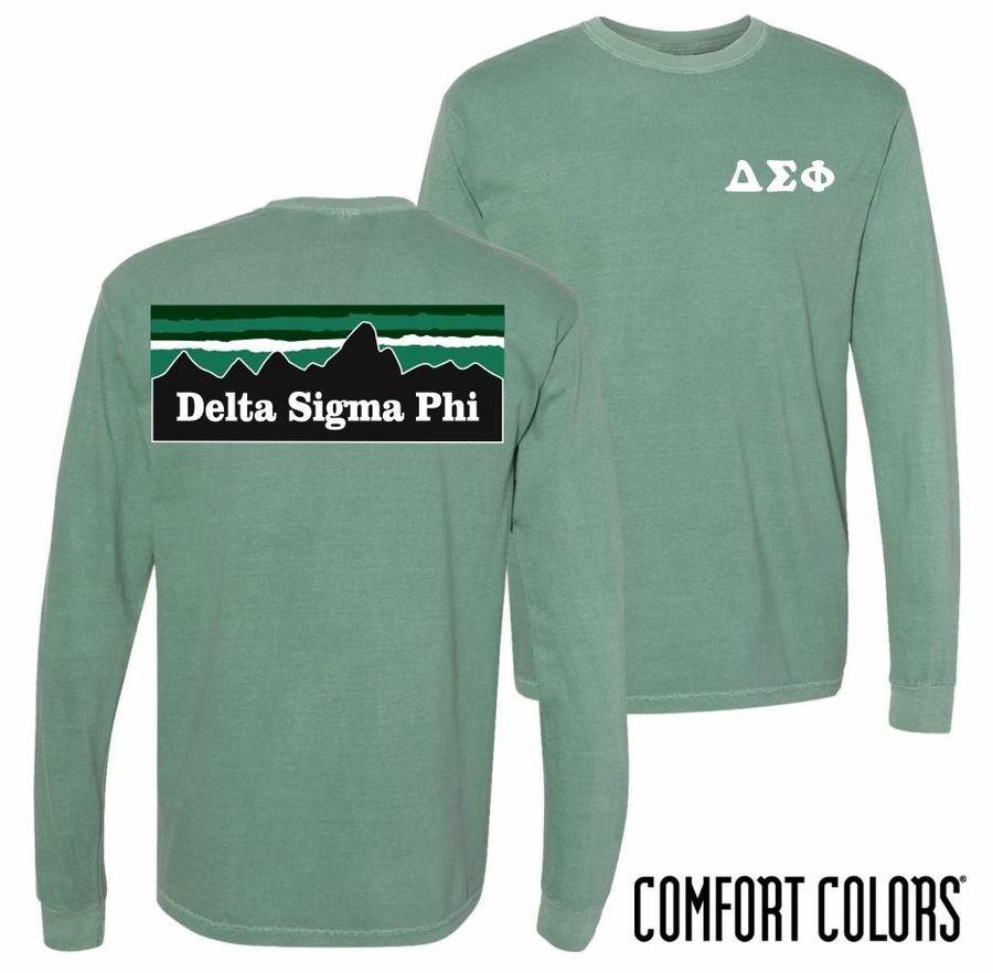 Comfort Colors Fraternity & Sorority Mountain Long Sleeve Shirt