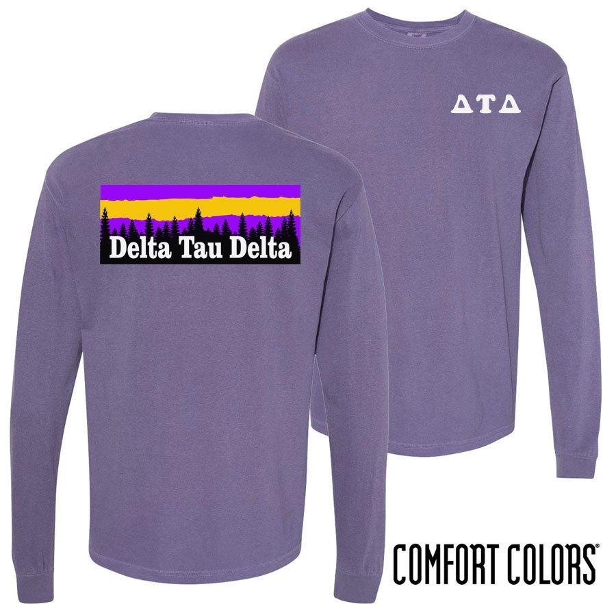 Delta Tau Delta Outdoor Long Sleeve T-shirt - Comfort Colors