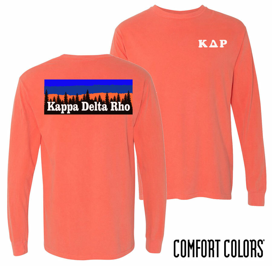 Kappa Delta Rho Outdoor Long Sleeve T-shirt - Comfort Colors