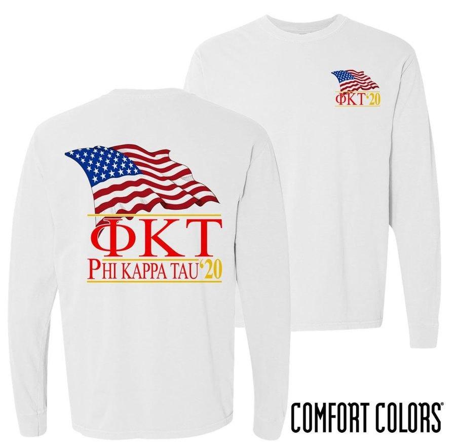 Phi Kappa Tau Patriot Long Sleeve T-shirt - Comfort Colors