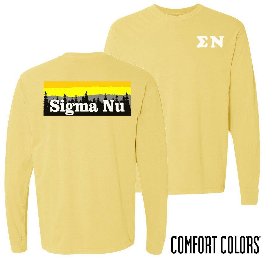 Sigma Nu Outdoor Long Sleeve T-shirt - Comfort Colors