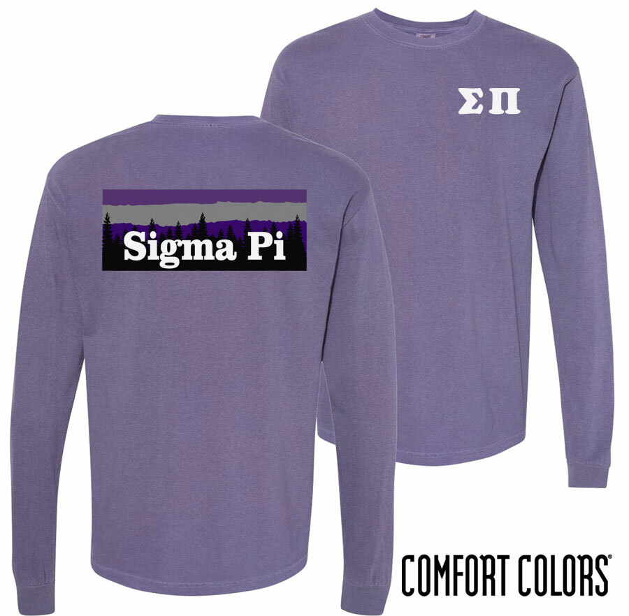 Sigma Pi Outdoor Long Sleeve T-shirt - Comfort Colors