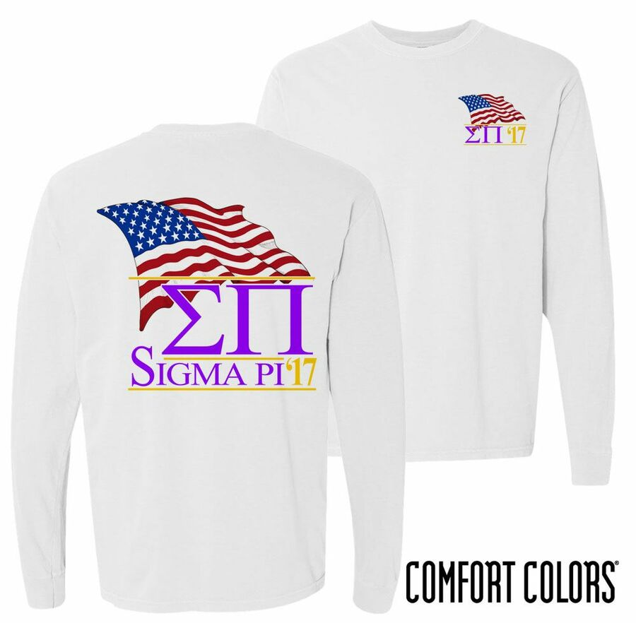 Sigma Pi Patriot Long Sleeve T-shirt - Comfort Colors