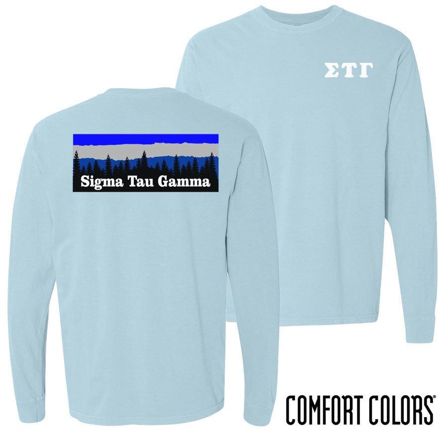 Sigma Tau Gamma Outdoor Long Sleeve T-shirt - Comfort Colors