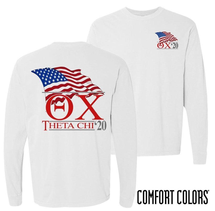 Theta Chi Patriot Long Sleeve T-shirt - Comfort Colors