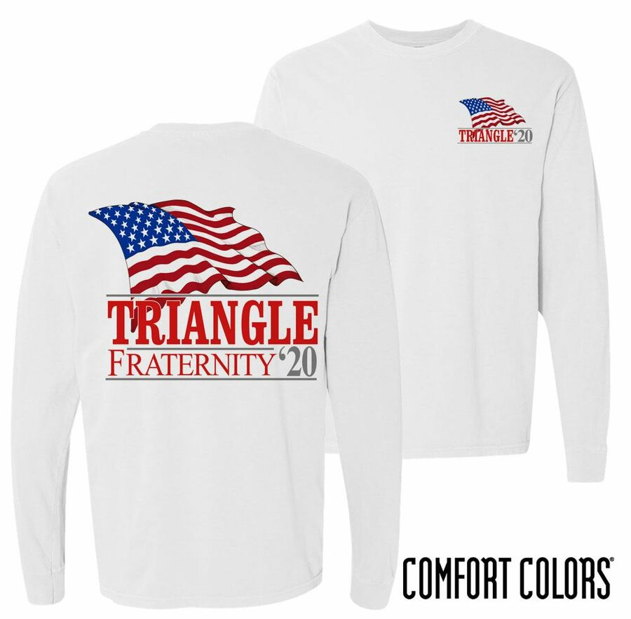 Triangle Patriot Long Sleeve T-shirt - Comfort Colors