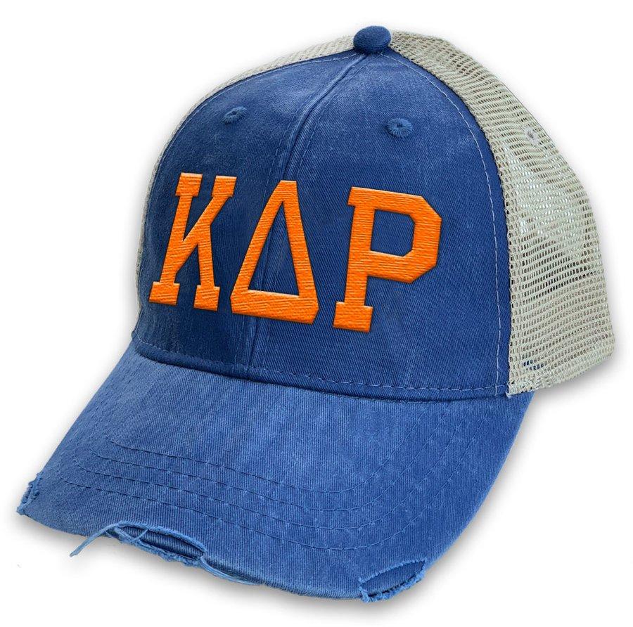 Kappa Delta Rho Distressed Trucker Hat