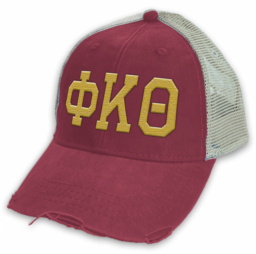 Phi Kappa Theta Distressed Trucker Hat