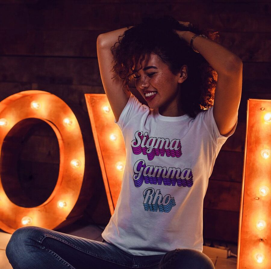 Sigma Gamma Rho Echo Tee - Comfort Colors