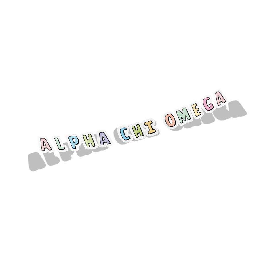 Alpha Chi Omega Cartoon Decal Sticker