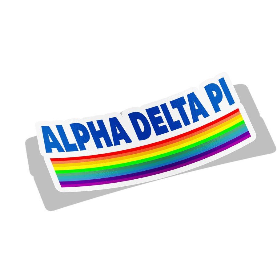 Alpha Delta Pi Prism Decal Sticker