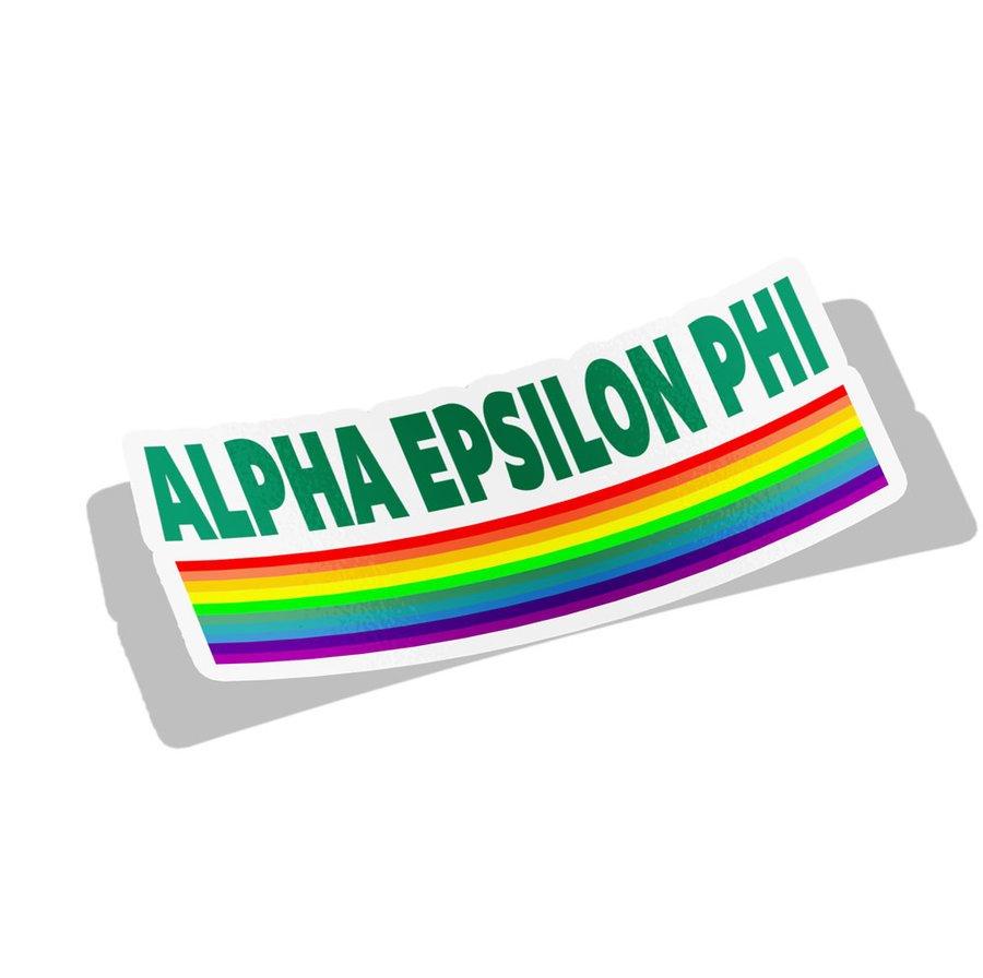 Alpha Epsilon Phi Prism Decal Sticker