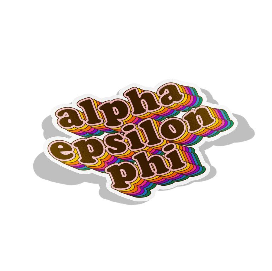 Alpha Epsilon Phi Retro Maya Decal Sticker