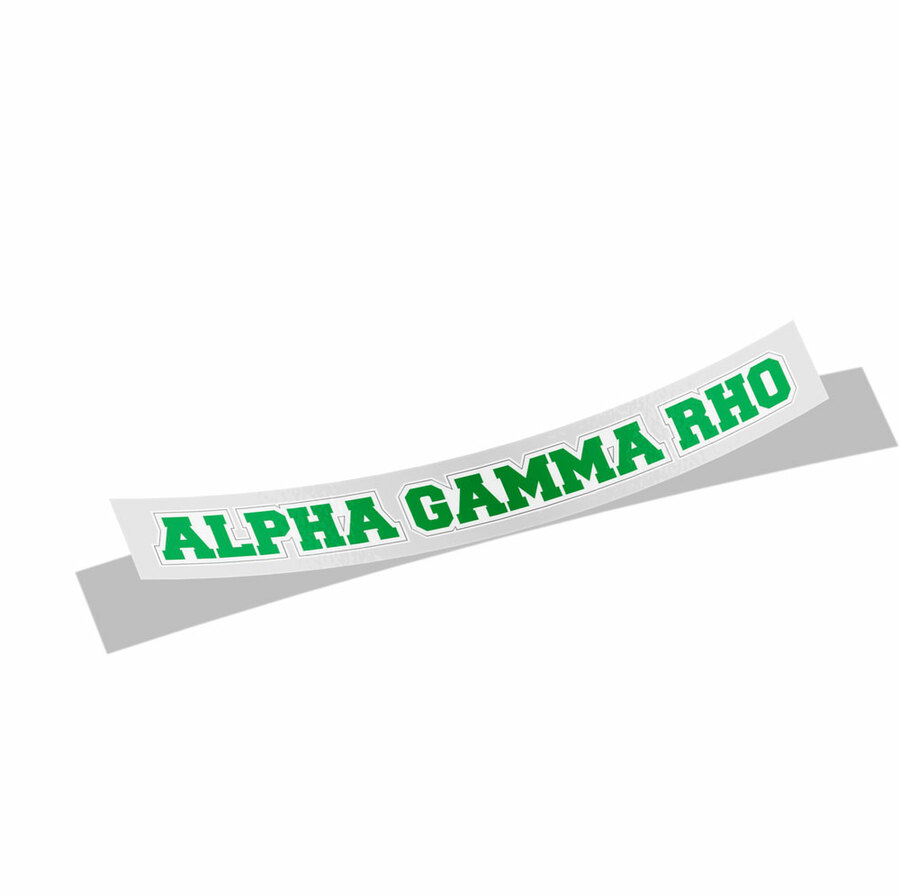 Alpha Gamma Rho Long Window Sticker