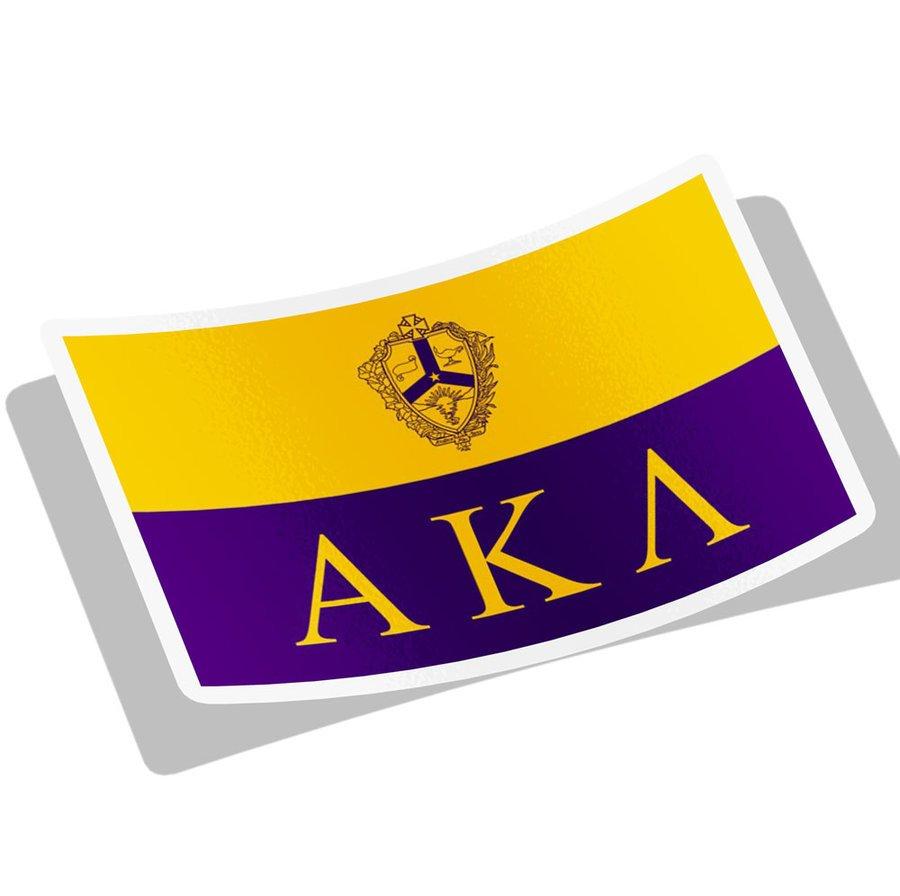 Alpha Kappa Lambda Flag Decal Sticker