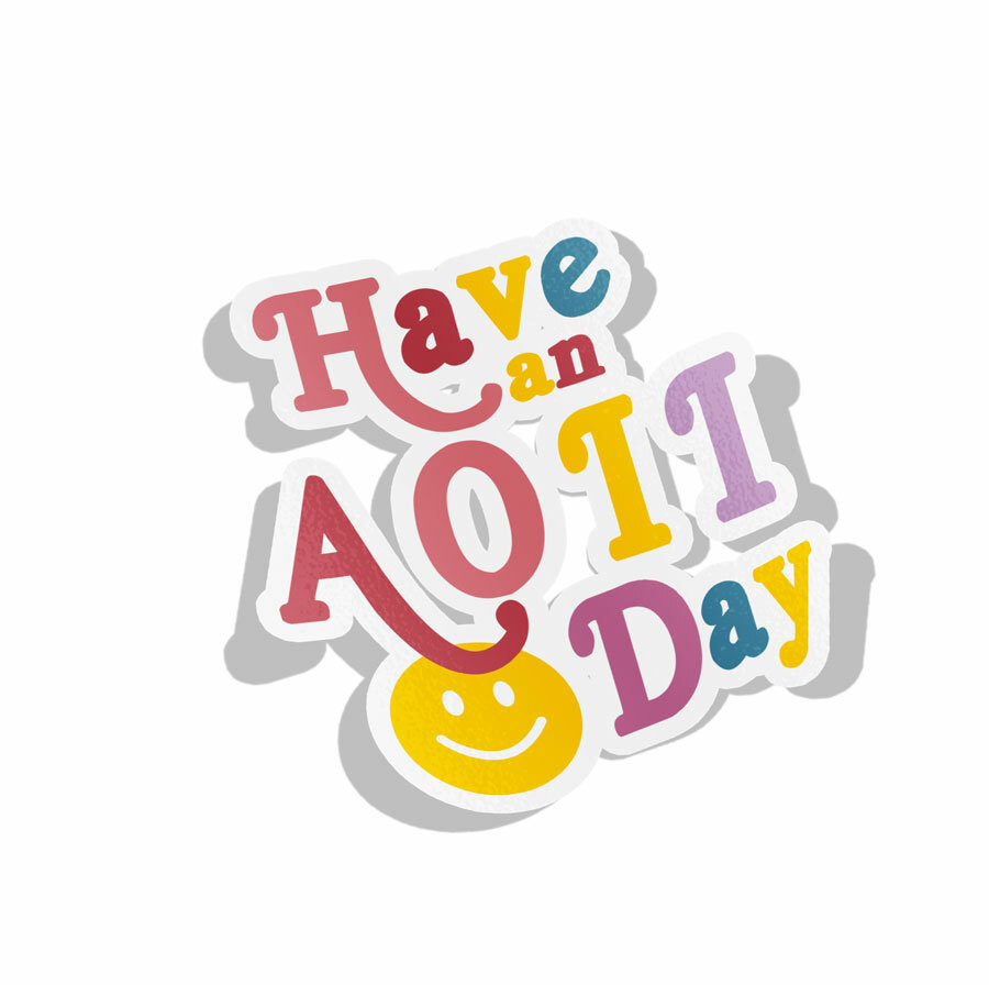 Alpha Omicron Pi Day Decal Sticker