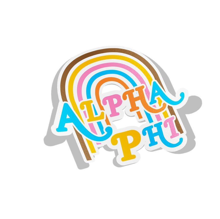 Alpha Phi Joy Decal Sticker
