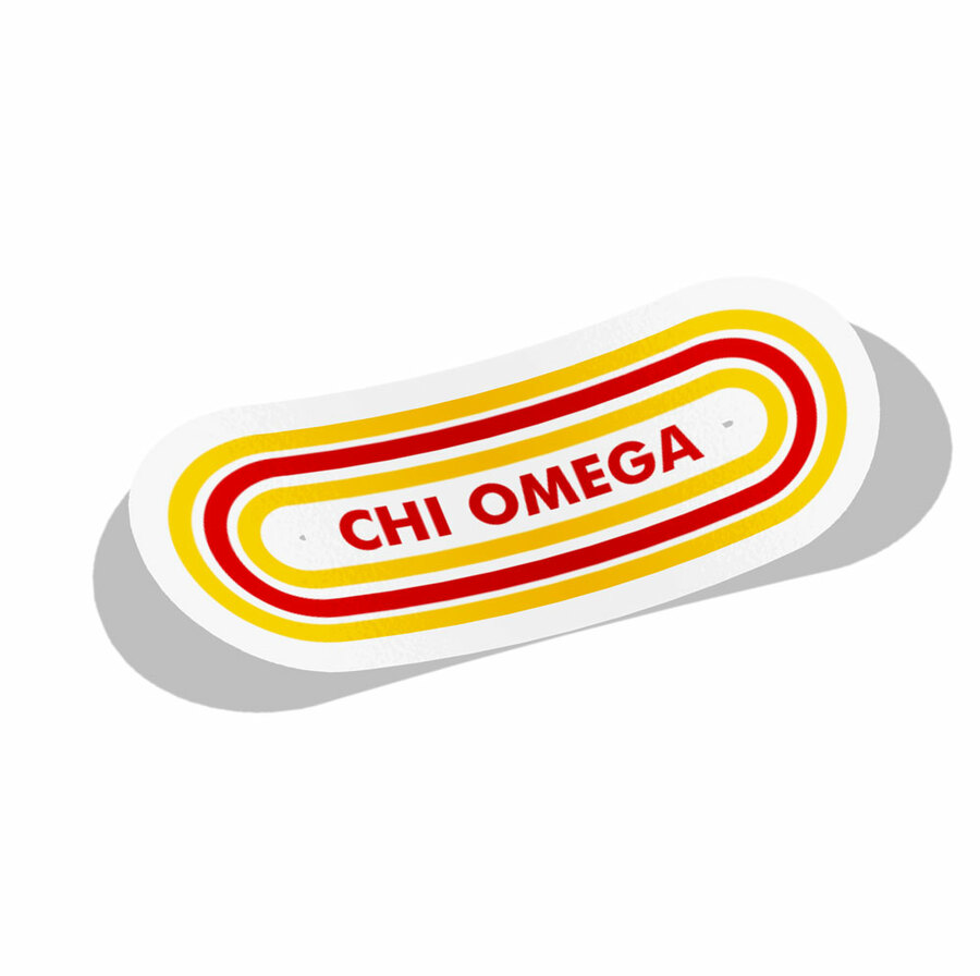 Chi Omega Capsule Decal Sticker