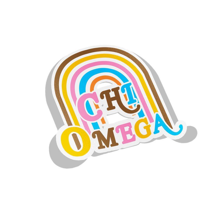 Chi Omega Joy Decal Sticker