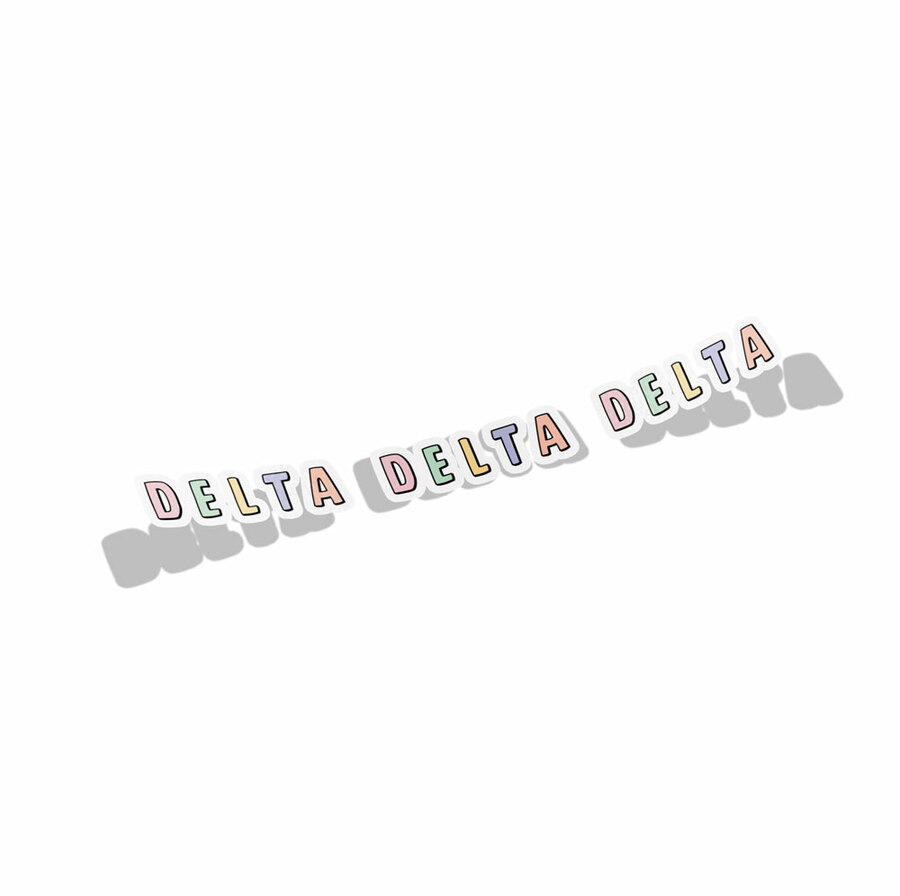 Delta Delta Delta Cartoon Decal Sticker
