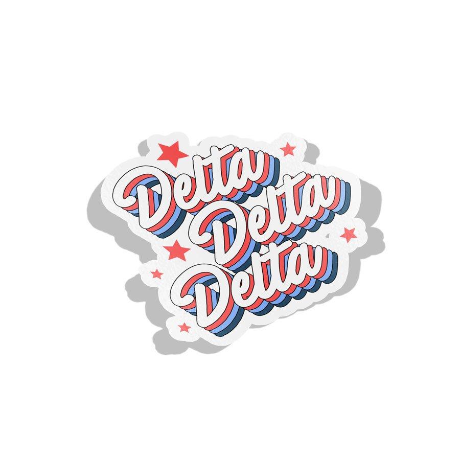 Delta Delta Delta Flashback Decal Sticker