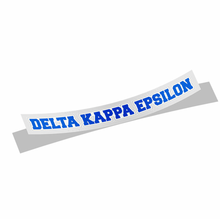 Delta Kappa Epsilon Long Window Sticker