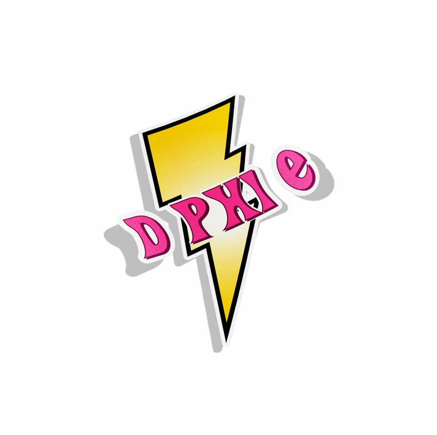 Delta Phi Epsilon Lightning Bolt Decal