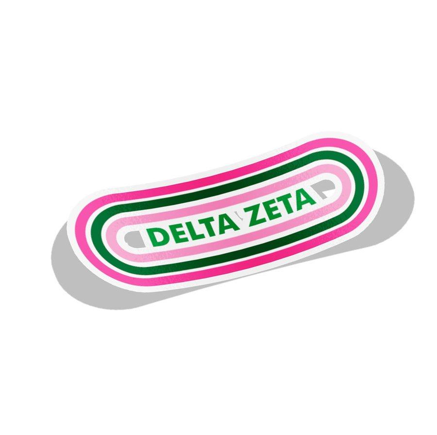 Delta Zeta Capsule Decal Sticker