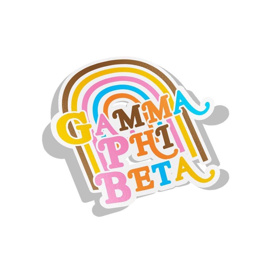 Gamma Phi Beta Joy Decal Sticker